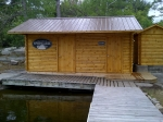 New Dock House, Sauna and Outdoor Shower